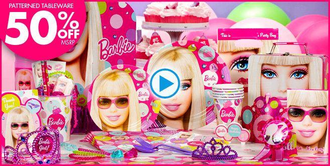 Heidis birthday Barbie Party Supplies Barbie Birthday Party – Party City Birthday Invitations