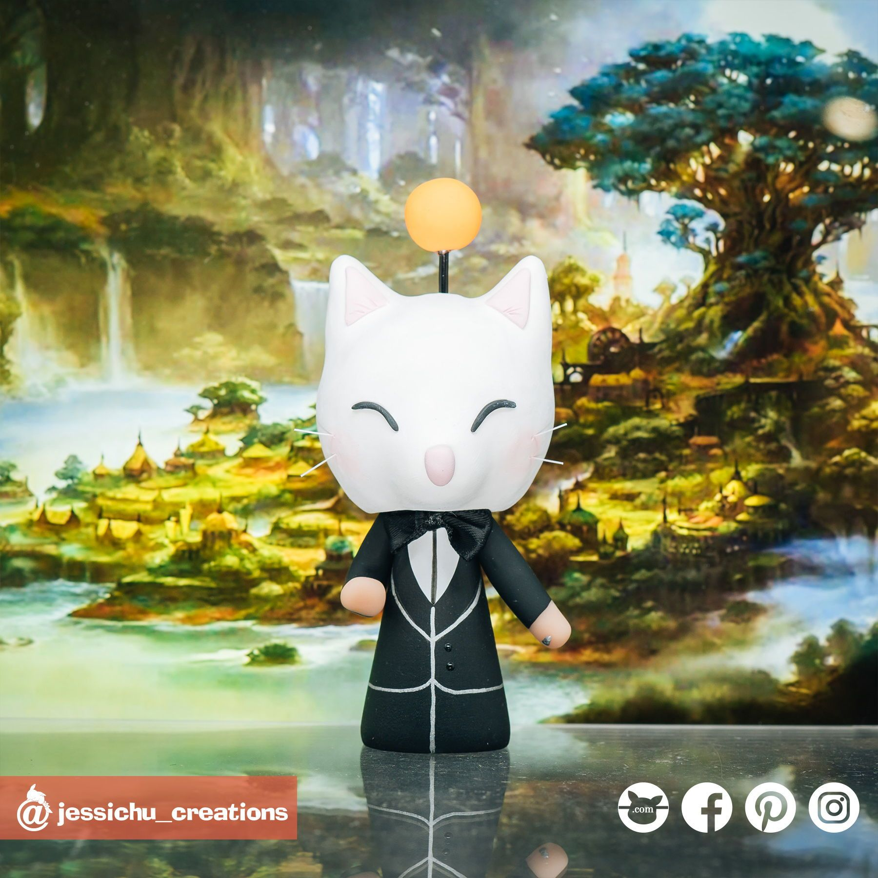 Final Fantasy XIV Miqo'te | Custom Handmade Wedding Cake Topper Figurines | Jessichu Creations   #FinalFantasyXIV #Miqo'te #finalfantasy  #VideoGameWedding #instagamer #gamerboy #gamergirl #gameon #lastgame #foundmyplayer2 #gamelovers #gamerswedding #dontgoplayingwithmyheart  #WeddingInspiration #WeddingCakeTopper #CakeTopper  #CustomCreations #WeddingCake #GeekWedding #GeekLife #NerdLove #NerdAlert #Handmade #creationsmadeforlove