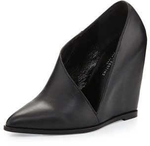 Saint  Libertine Anglo Leather Covered Cutout Wedge