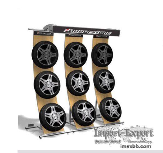 Tire Retail Displays Tyre Display Rack Stand Store Fixtures Shop