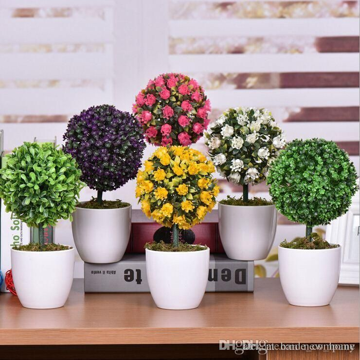 small plant for office desk. decorative green artificial flowers bonsai cheap plants creative rose ornaments wedding decoration office desk decor small plant for o