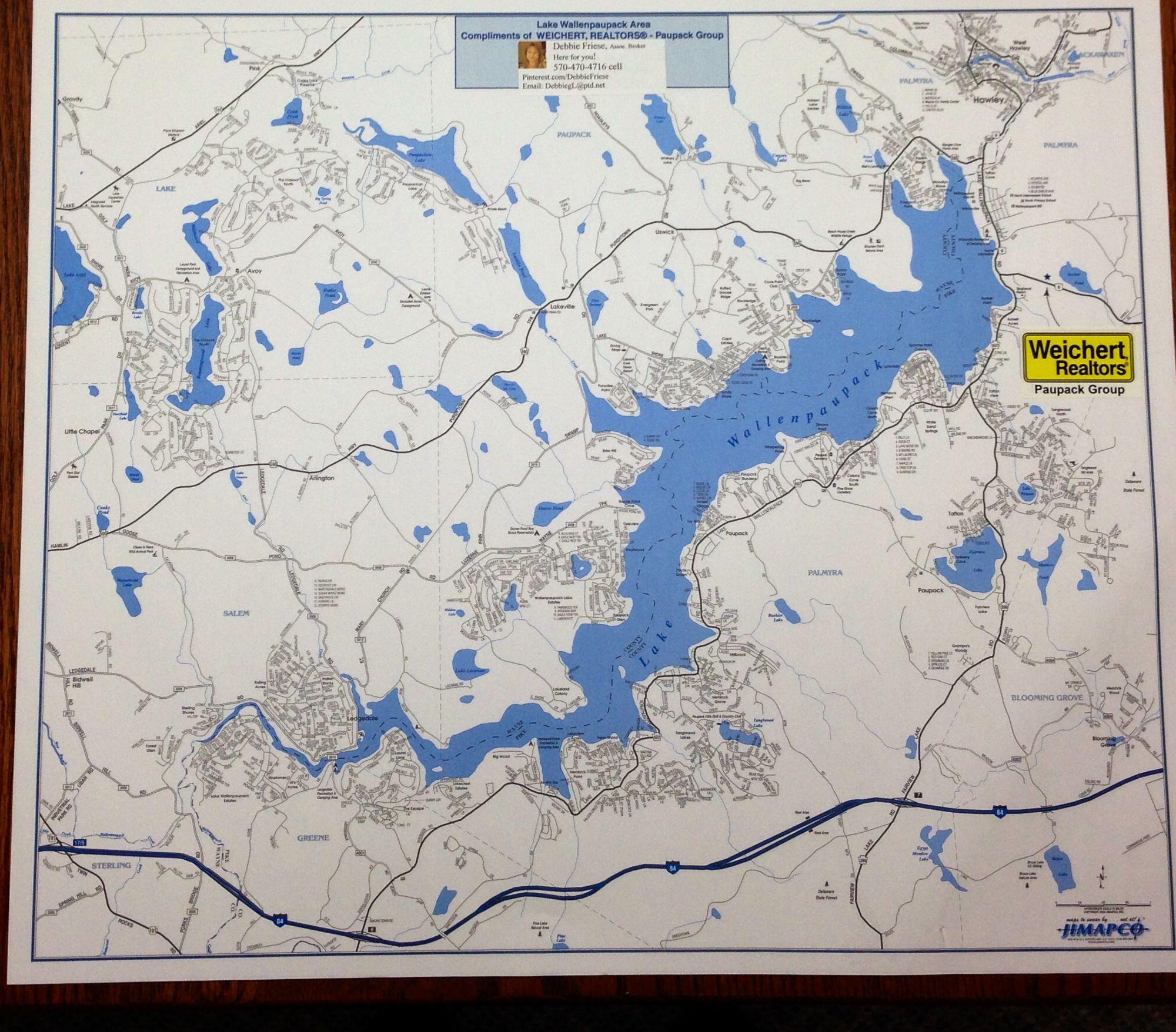 Lake wallenpaupack neighborhoods area map of lake for Lake wallenpaupack fishing