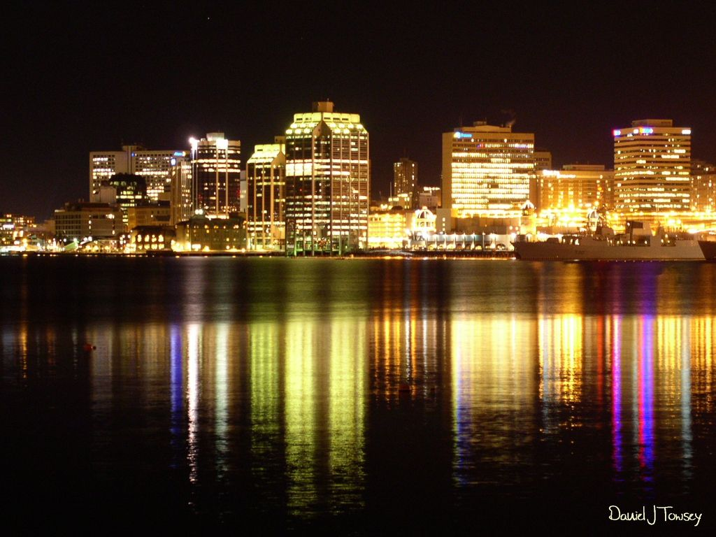Halifax Nova Scotia The Harbour Is Beautiful Lit Up At Night And The Seafood At The Restaurant