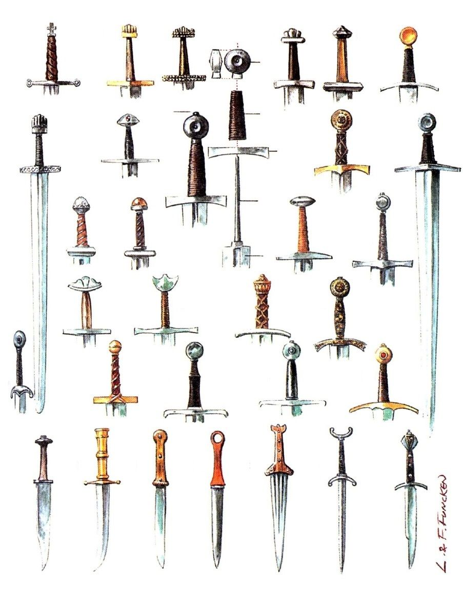 Types of swords and daggers