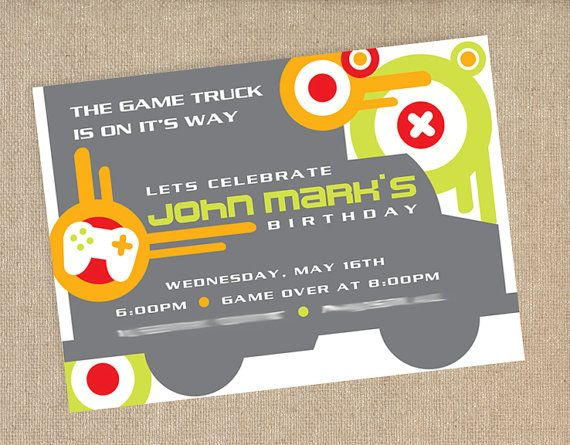 video game party invitation by papernplay on etsy 1500 - Video Game Party Invitations