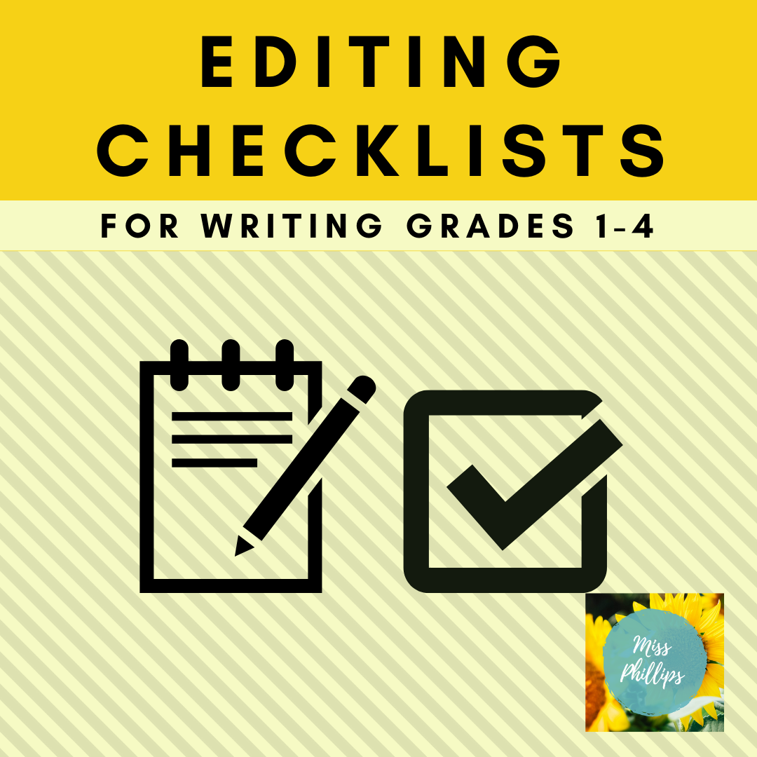 Editing Checklists For Grades 1 4 Writing In