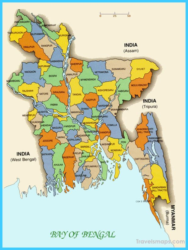 Map Of Bangladesh With Images Asia Map Detailed Map Tourist Map