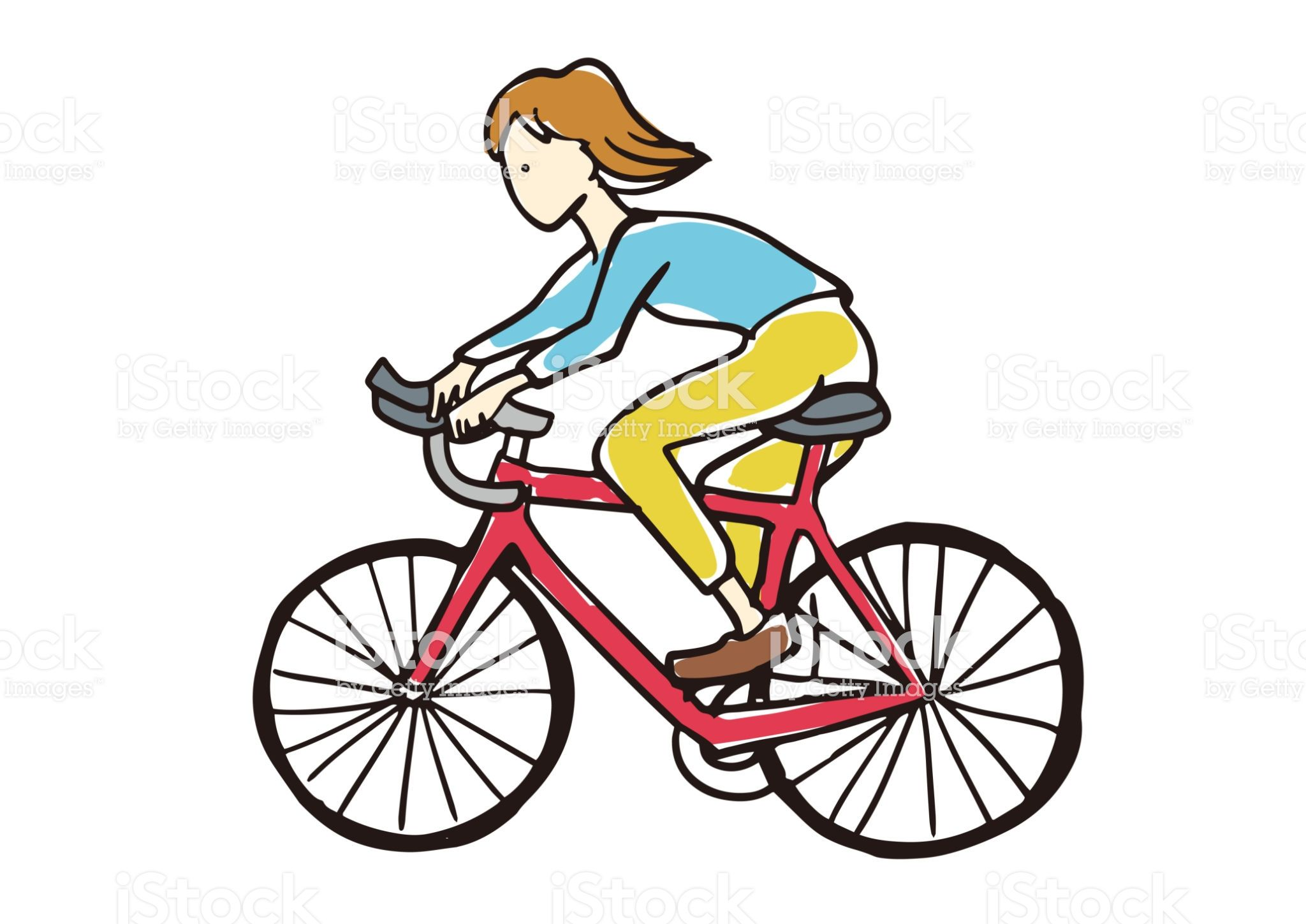 A Person Riding A Bicycle Diseno De Personajes Imagen De Alta Resolucion Andar En Bicicleta