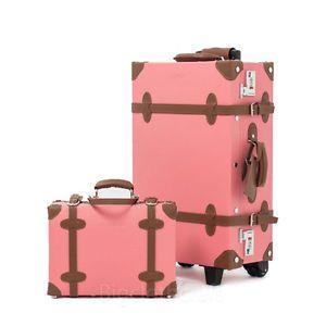2Pc EDDAS ETHOS Vintage Luggage Pink Trolley 22 | Luggage / Travel ...