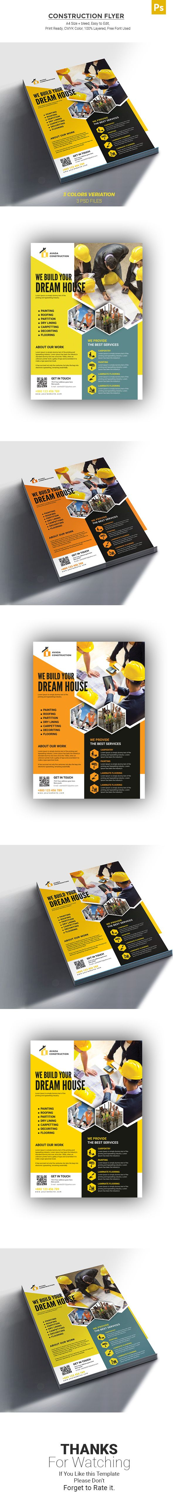 pin by graphic store on construction flyer pinterest flyer