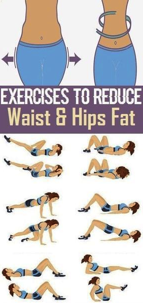 How to reduce hips fat exercise