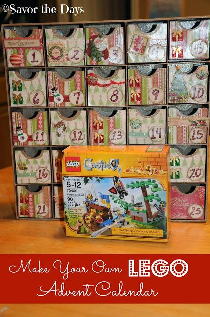 Make Your Own Lego Advent Calendar Lego Challenge Lego Advent
