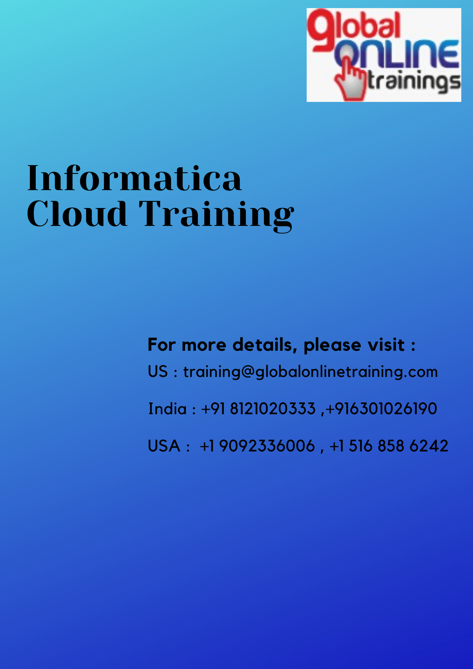 Informatica Cloud Training Informatica Cloud Online Training Got In 2020 Online Training Corporate Training Master Data Management