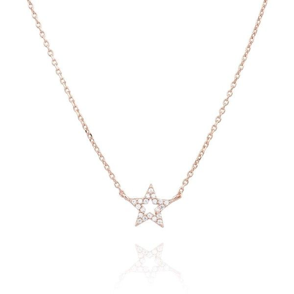 Astrid Miyu Rose Gold New Tricks Star Necklace 54 liked on