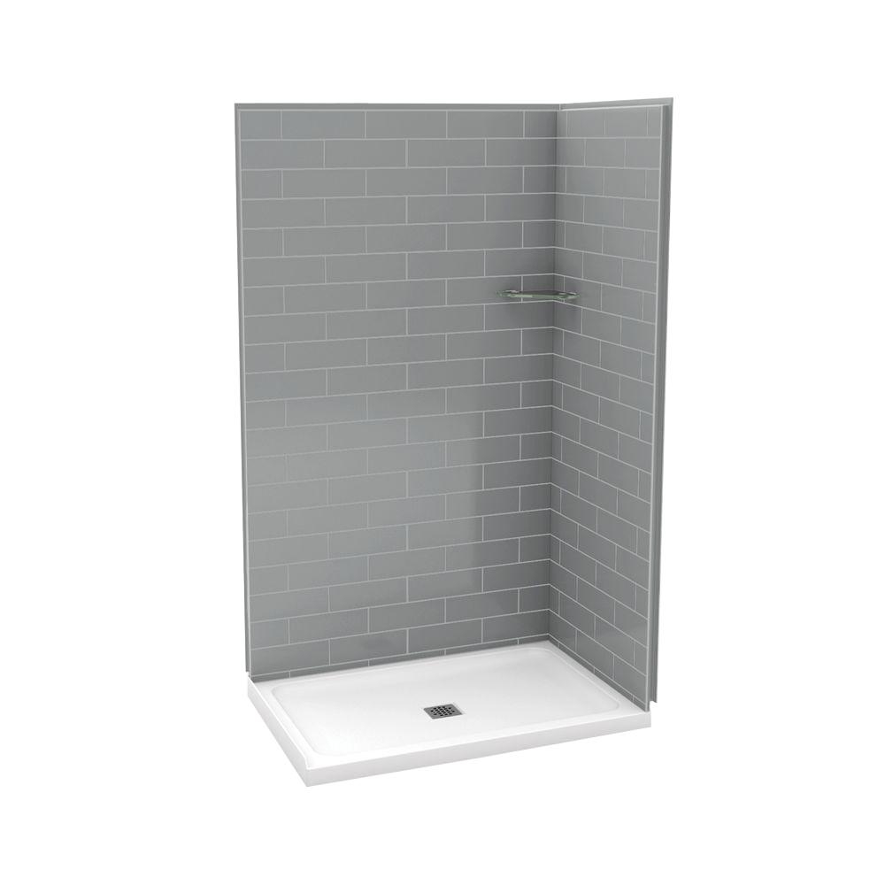 Maax Utile Metro 32 In X 48 In X 83 5 In Corner Shower Stall In