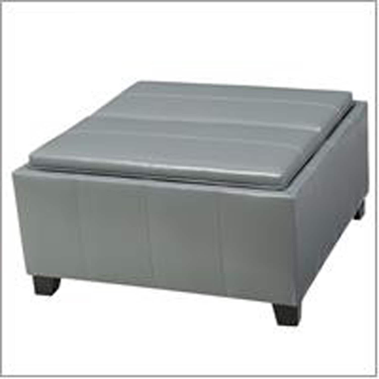 Westerfield Gray Tray Top Storage Ottoman