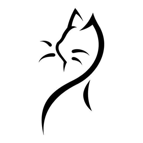 b7485e6f9 Black Tribal Cat Tattoo #tat #ink #cat #tribal #tattoo #kitten More ...