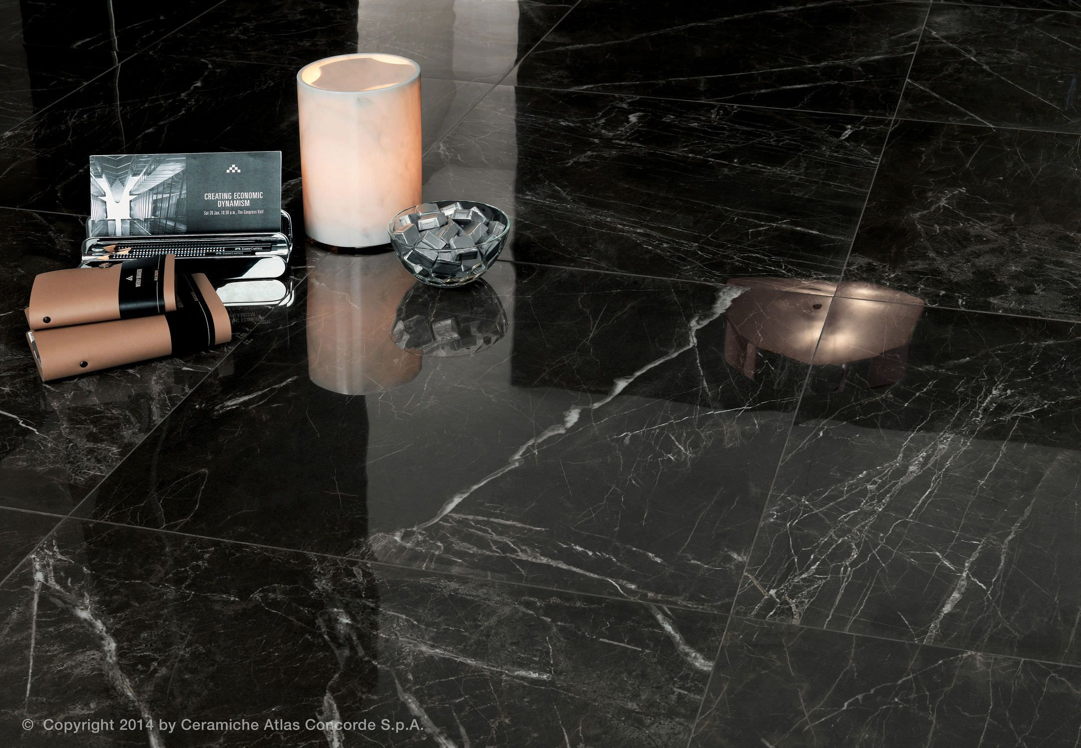Indoor Tile Floor Porcelain Stoneware Polished Marvel Pro Atlas Concorde Videos Marble Look Tile Marble Effect Italian Marble