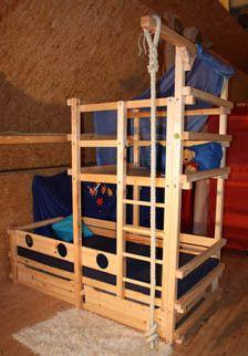 Betten für Dachschrägen TAU Abenteuerbetten Bett