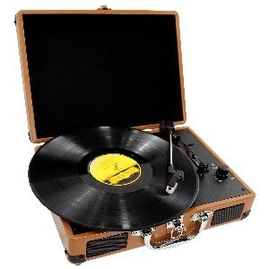 This retro turntable is disguised as a briefcase!
