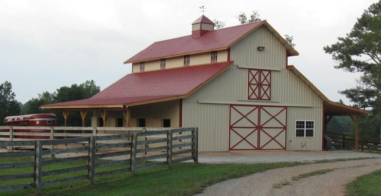 Precision barn builders horse barn construction pole for Pole construction homes