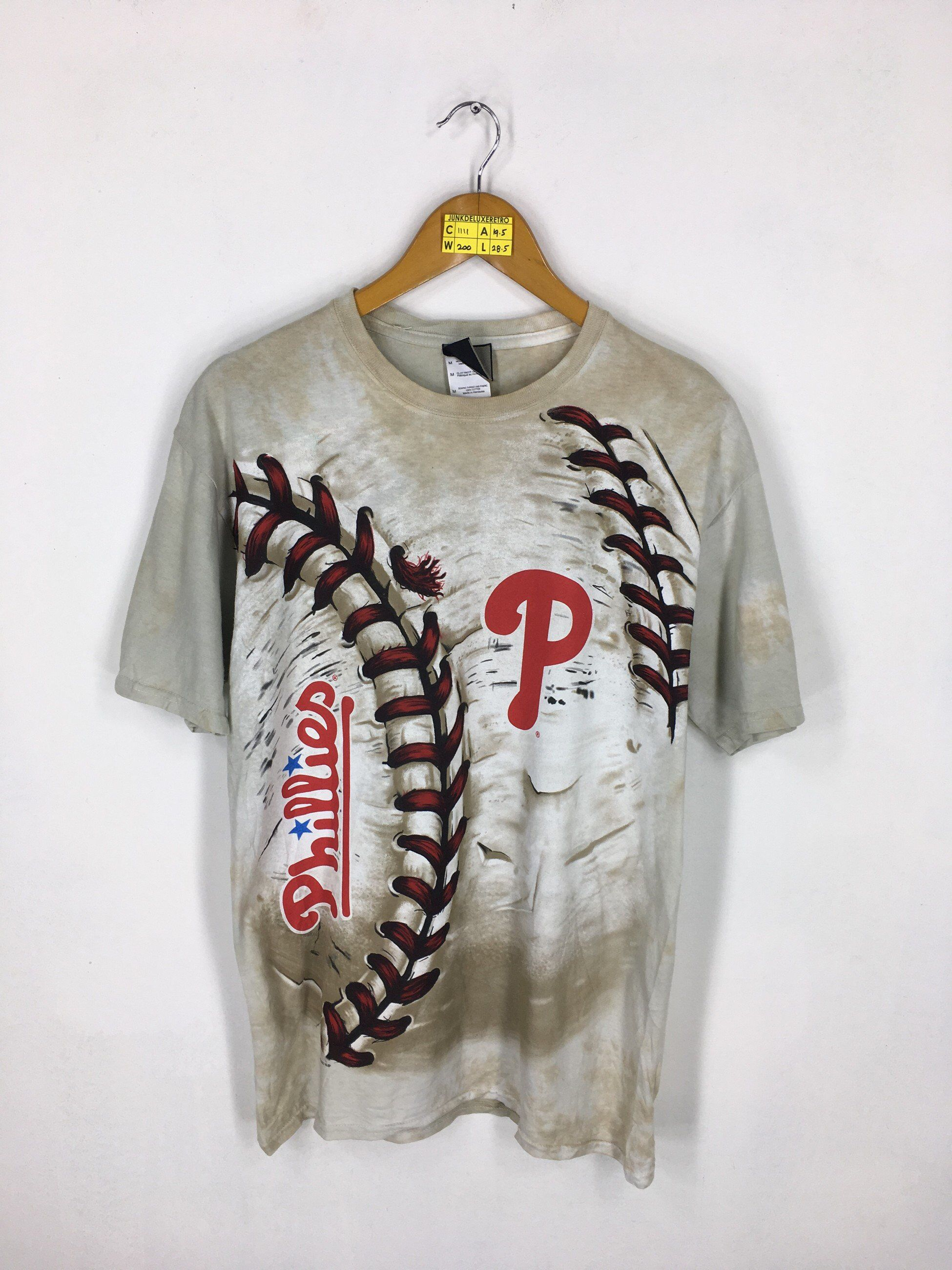 a7154967 Excited to share the latest addition to my #etsy shop: PHILLIES  PHILADELPHIA Baseball T shirt Medium Vintage 90s Phillies Baseball Mlb  Phillies All Over ...