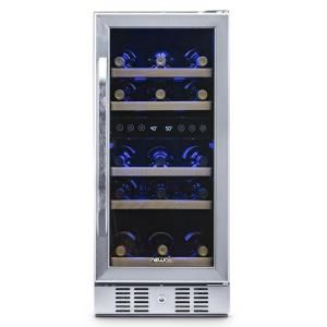 Newair Dual Zone 29 Bottle Built In Compressor Wine Cooler Fridge Quiet Operation And Beech Wood Shelves Stainless Steel Awr 290db With Images Wine Cooler Fridge Freestanding Fridge Built In Wine Cooler