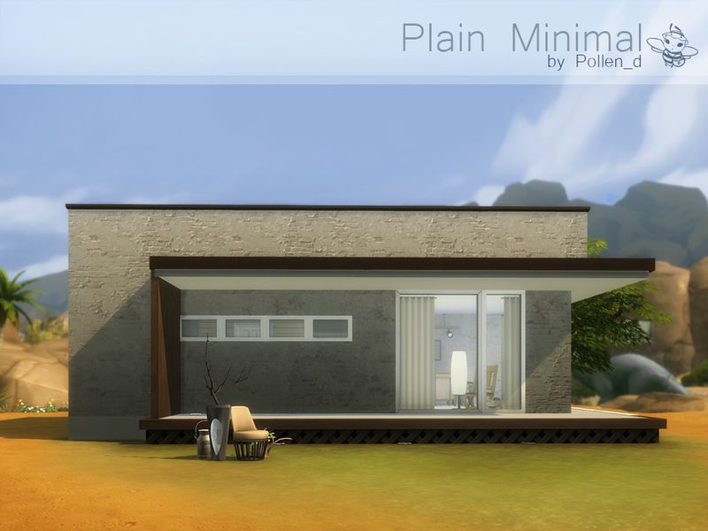Small modern house with clear lines and simple forms fot for Single person house