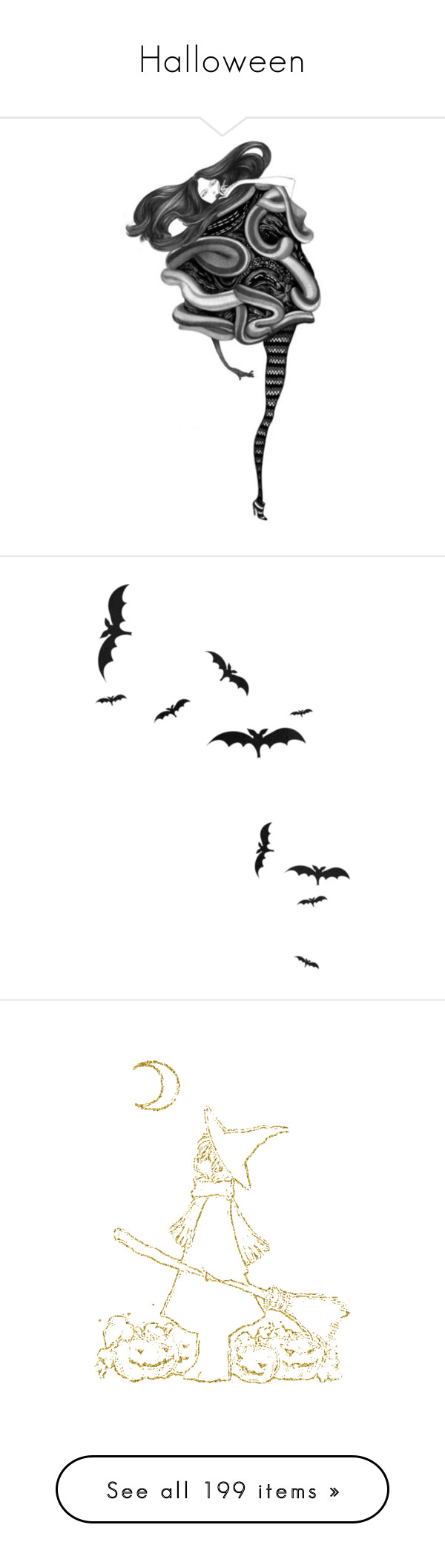 """""""Halloween"""" by megalexan ❤ liked on Polyvore featuring backgrounds, sketches, drawings, art, fashion sketches, halloween, filler, decor, extras and accessories"""