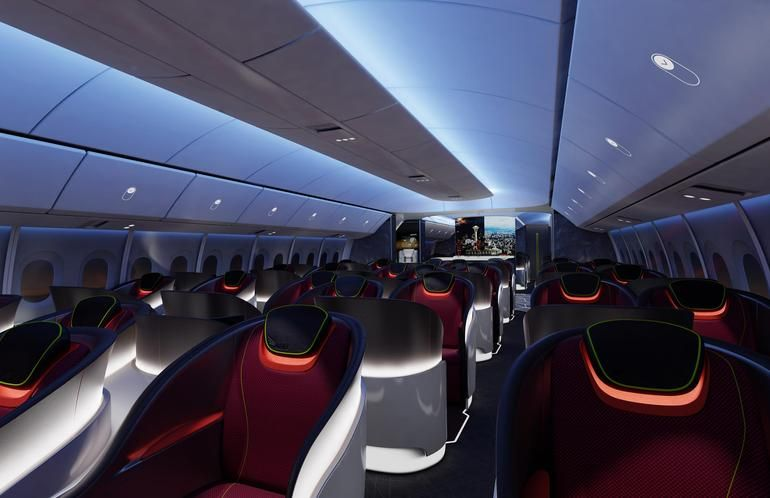 Interior of  boeing passenger plane rendering    also plans big windows lots air and robot rh pinterest