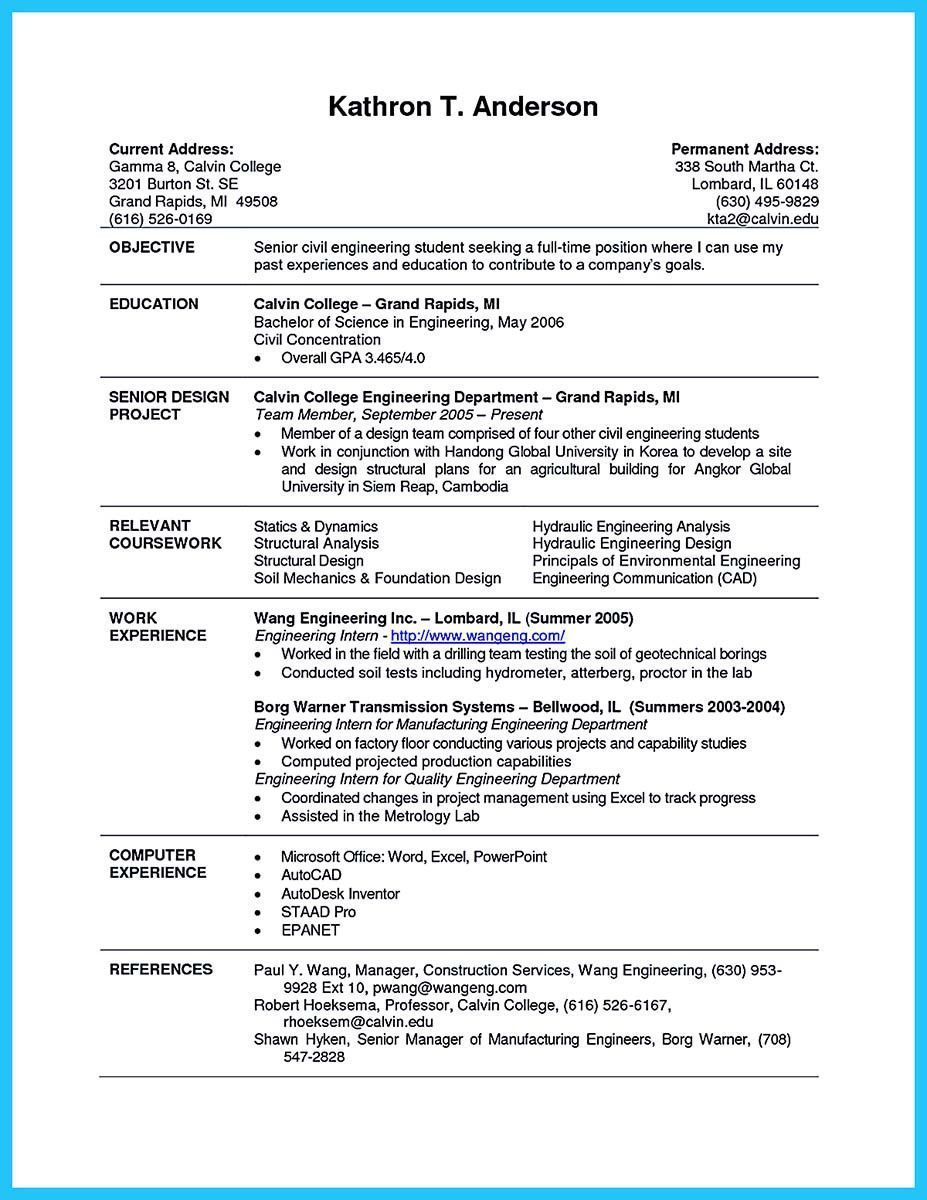 Resume Examples For Students Trendy Best Current College Student