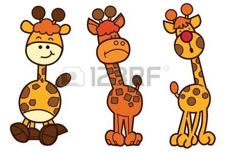 Family Giraffe Cartoon Character Design Cute Animal Illustration On White Isolate Cartoon Character Design Cute Animal Illustration Character Design
