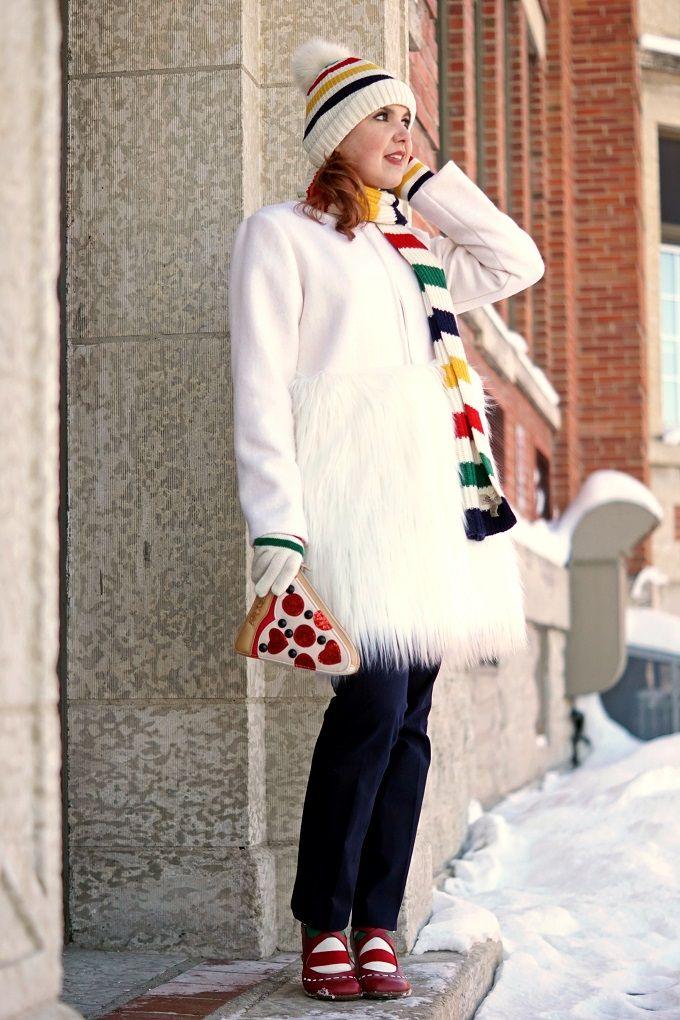 d83925deed37c Winnipeg Style, Chicwish Snow White faux fur coat, The Bay Hudson ...