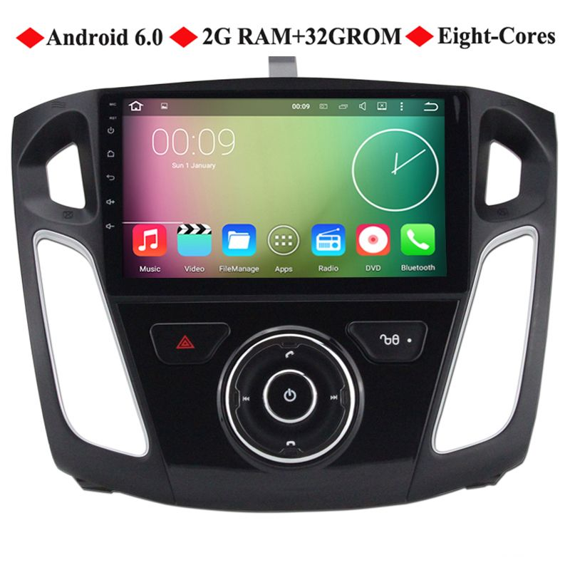 9 Android 6 0 Eight Cores Car Dvd For Ford Focus 2012 2013 2014 2015 Focus 3 Gps Head Unit Car Stereo Radio With 2g Ram 32 Car Dvd Players Core Car Car Stereo