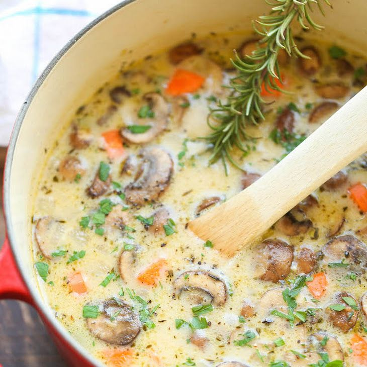 Creamy Chicken And Mushroom Soup Recipe Soups With Olive