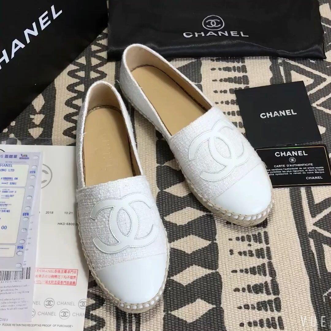 24709b72 Chanel woman espadrilles white | Walk Your Wayy! in 2019 | Women's ...