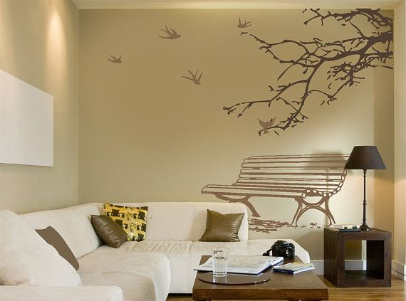Spring Coming Birds Fly Back Wall Sticker | Branches Wall Decal ...