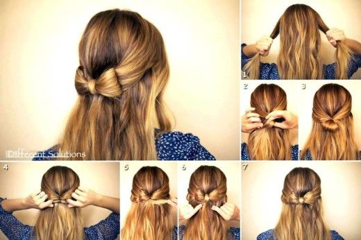 How To Make Easy Hairstyles At Home Bow Hairstyle Thick Hair Styles Medium Hair Styles
