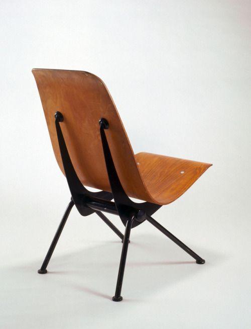 Jean Prouve Chair Antony 1950 Les Ateliers Jean Prouve France Via Museum Fur Angewandte Kunst Koln Source Rba History Design Design Chair
