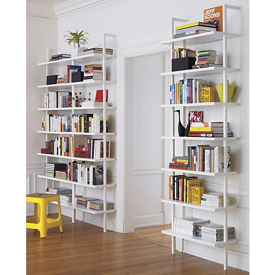 Stairway White 96 Wall Mounted Bookcase Wall Mounted