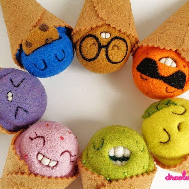 Have a great weekend!!! #weekend #droolwool #scoopsies #handmadearttoy #arttoy #designertoy #icecreamartoy #cuteicecream