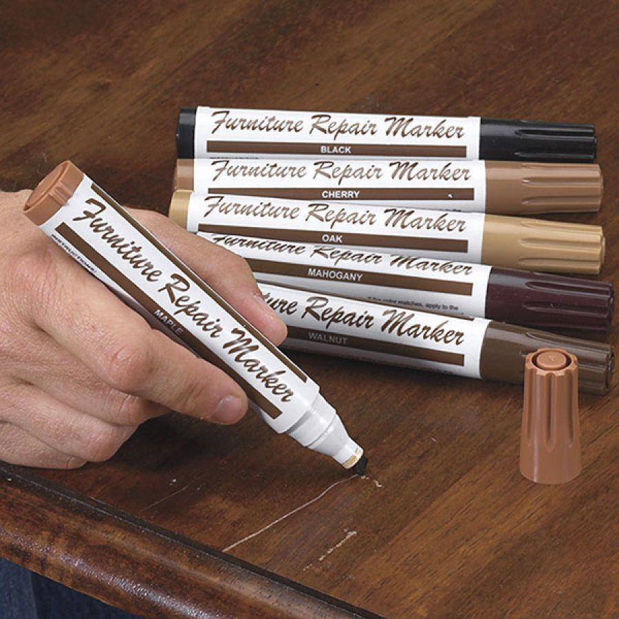 Set Of 6 Scratched Furniture Repair Markers Furniture Repair Repair Furniture Scratches