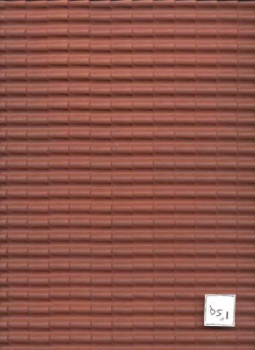 Red Barrel Tile Roof Sheet Dollhouse Mh5330 1 12 Scale Formed Plastic Ebay Roofing Sheets Plastic Roofing Corrugated Roofing