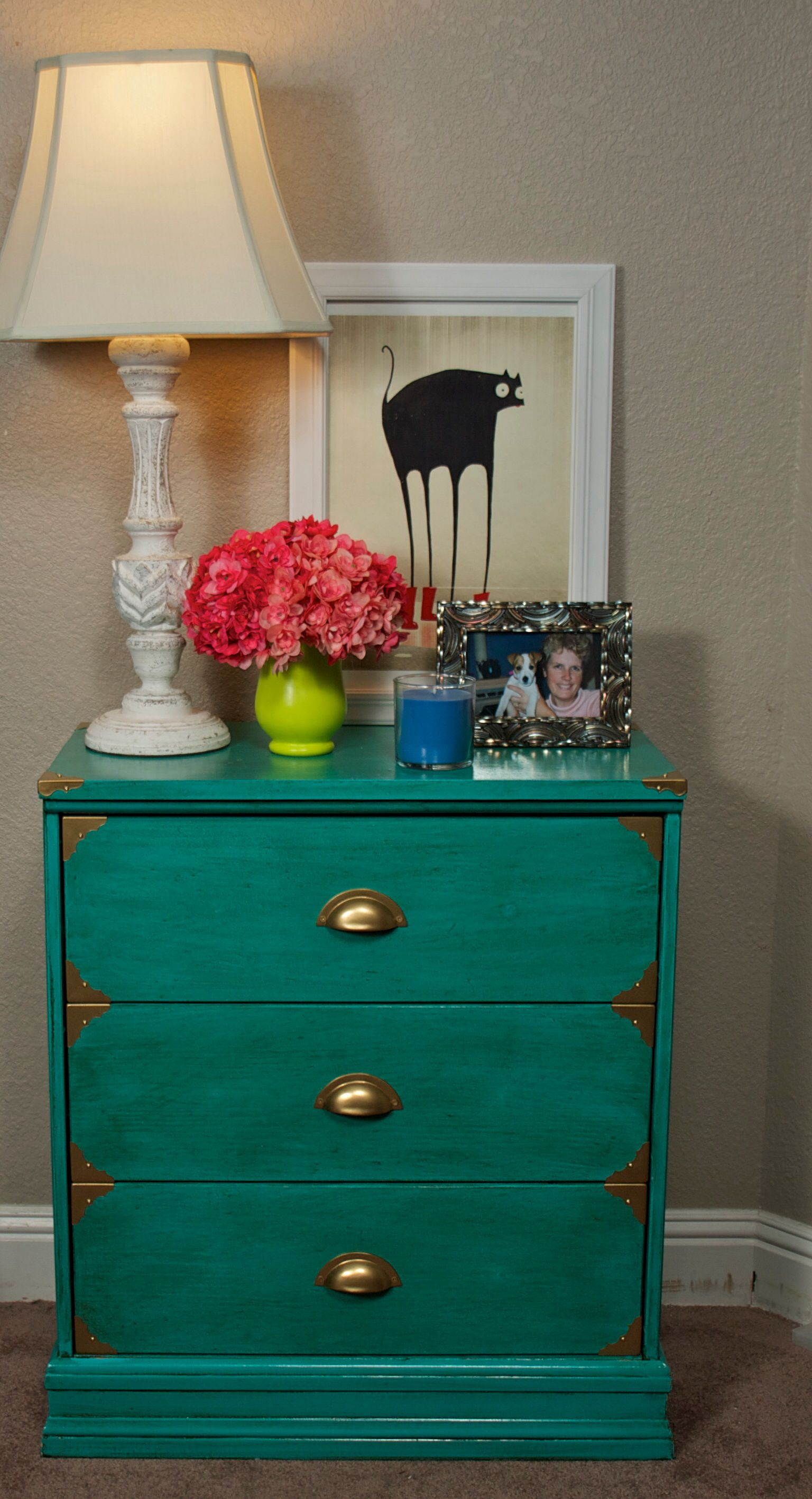 Teal Chest Of Drawers Side Table Hallway Cabinet Ikea