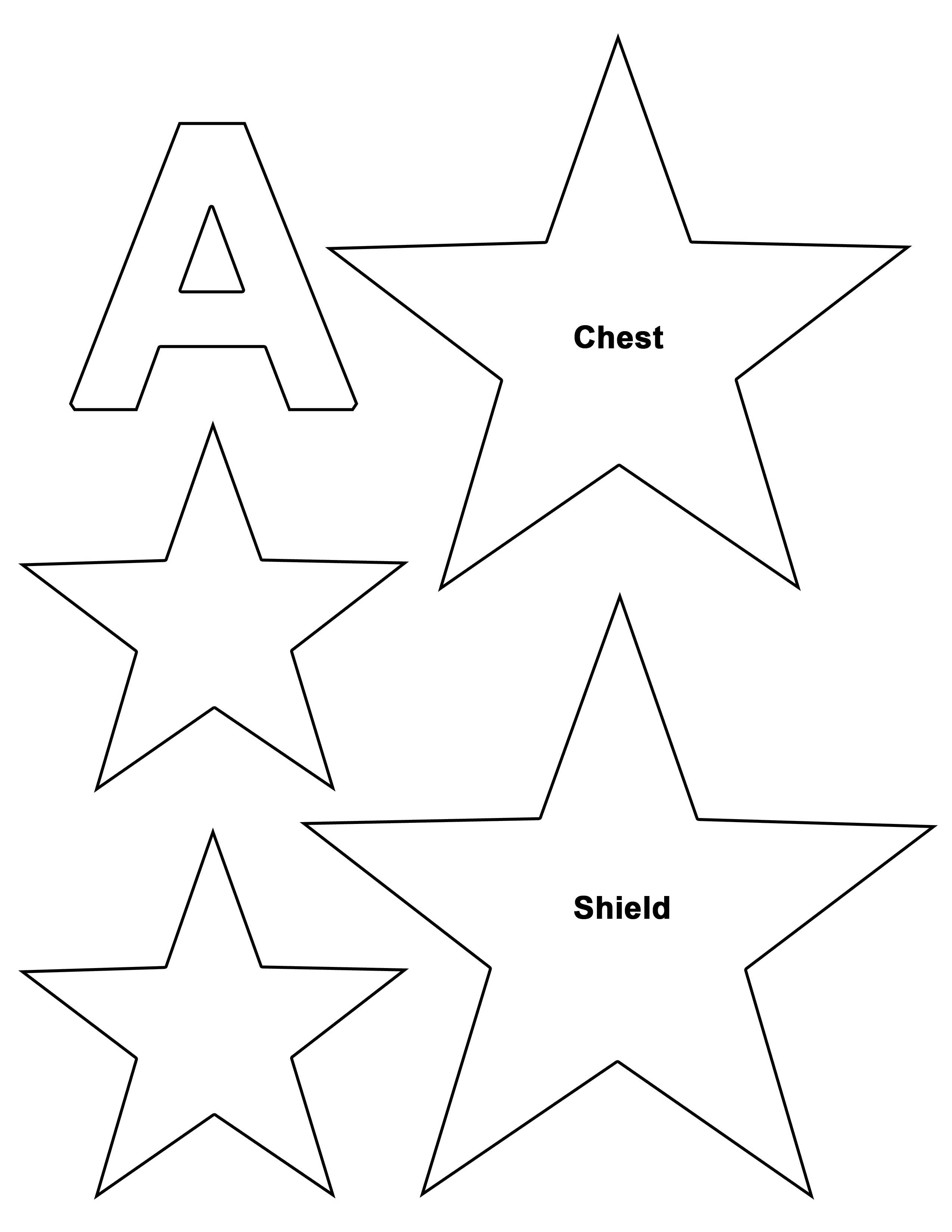 Captain America Star Template Costumes Pinterest Captain