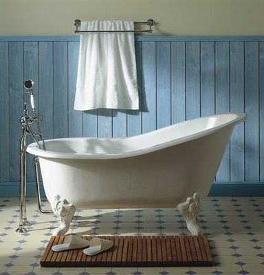 Moustier Polychrome Cast Iron Marie Louise Bathtub Feet From Herbeau