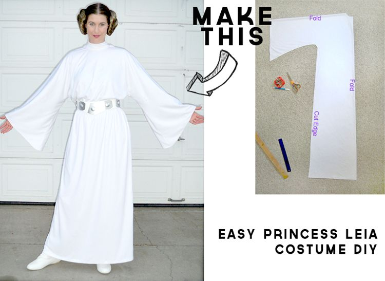 Princess leia white dress pattern