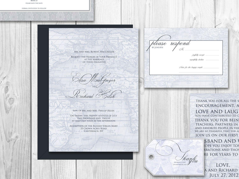 DESTINATION WEDDING INVITATIONS printable by DesignedWithAmore ...