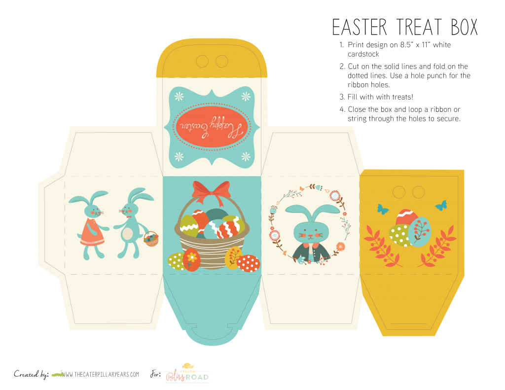 Free printable easter treat boxes free printable easter and box free printable easter treat boxes negle Image collections