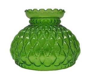 """Vintage Glass Lamp Shade Crimped Ruffle Top Milk Melon 10/"""" Fitter 6 3//4"""" Tall"""